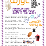 WJYC Feb-March Forthcoming Events